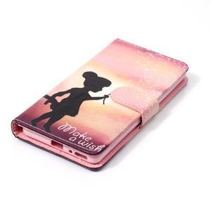 Emotive PU kožené knížkové puzdro pre Sony Xperia XA - želaj si niečo - 4