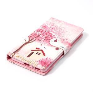Emotive PU kožené knížkové puzdro pre Sony Xperia XA - domov - 4