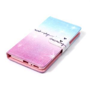 Emotive PU kožené knížkové puzdro pre Sony Xperia XA - neprestávaj snívať - 4