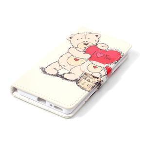 Emotive PU kožené knížkové puzdro pre Sony Xperia XA - medvedík - 4