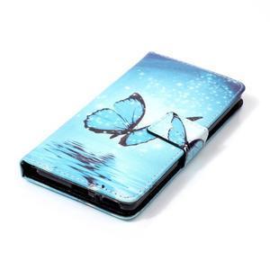 Emotive PU kožené knížkové pouzdro na Sony Xperia XA - modrý motýl - 4