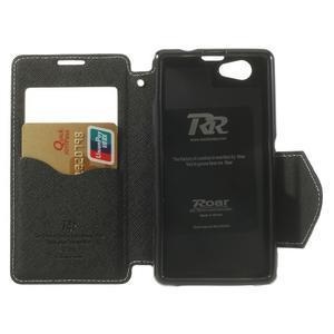 Okýnkové puzdro pre mobil Sony Xperia Z1 Compact - biele - 4