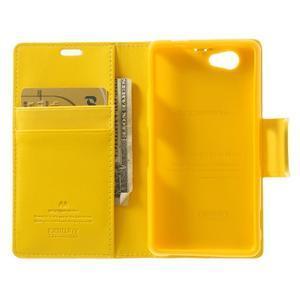 Sonata PU kožené puzdro pre mobil Sony Xperia Z1 Compact - žlté - 4