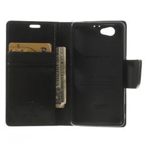 Sonata PU kožené puzdro pre mobil Sony Xperia Z1 Compact - čierne - 4