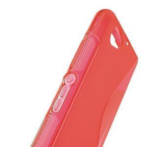 Gelové S-line pouzdro na Sony Xperia Z1 Compact - červené - 4