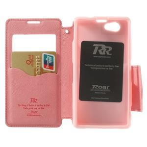 Okýnkové pouzdro na mobil Sony Xperia Z1 Compact - rose - 4
