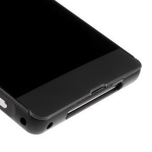 Kovový kryt s plastovými chrbtom na Sony Xperia Z1 - čierny - 4