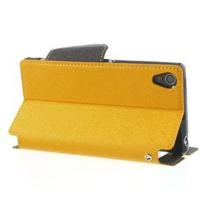 Okýnkové pouzdro na mobil Sony Xperia Z1 - žluté - 4