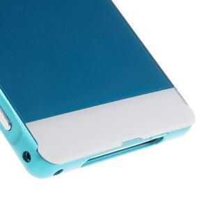 Kovový kryt s plastovými zády na Sony Xperia Z1 - modrý - 4