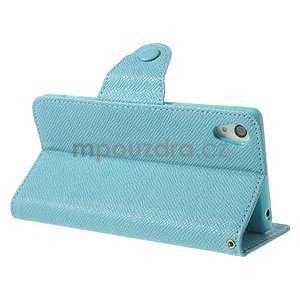 Štýlové Peňaženkové puzdro pre Sony Xperia Z2 - svetle modré - 4