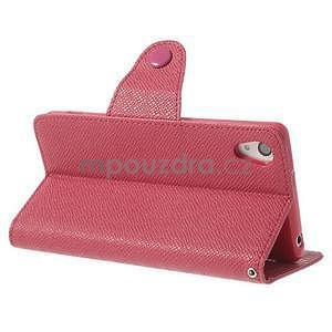 Štýlové Peňaženkové puzdro pre Sony Xperia Z2 - rose - 4