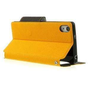 Okýnkové puzdro pre mobil Sony Xperia Z2 - žlté - 4