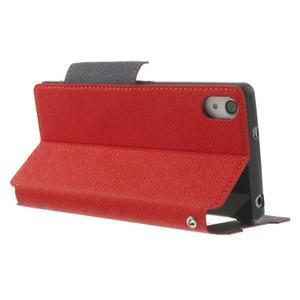 Okýnkové puzdro pre mobil Sony Xperia Z2 - červené - 4