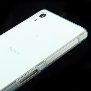 Ultratenký slim gélový obal pre mobil Sony Xperia Z2 - cyan - 4