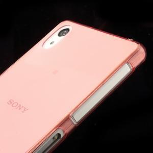 Ultratenký slim gelový obal na mobil Sony Xperia Z2 - červený - 4