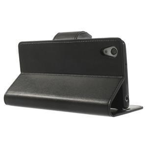 Sonata PU kožené puzdro pre mobil Sony Xperia Z2 - čierne - 4