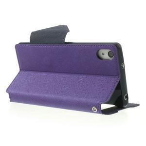 Okýnkové puzdro pre mobil Sony Xperia Z2 - fialové - 4