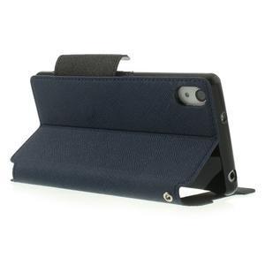Okýnkové puzdro pre mobil Sony Xperia Z2 - tmavomodré - 4