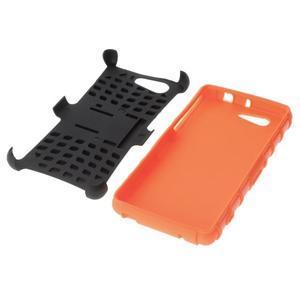 Odolný ochranný kryt na Sony Xperia Z3 Compact - oranžový - 4