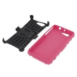 Odolný ochranný kryt pre Sony Xperia Z3 Compact - rose - 4