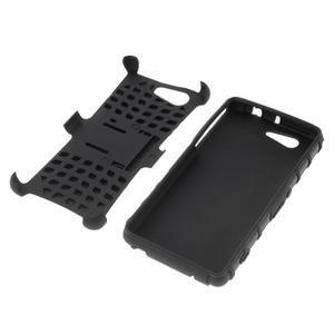 Odolný ochranný kryt pre Sony Xperia Z3 Compact - čierny - 4