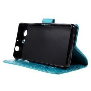 Butterfly PU kožené puzdro pre mobil Sony Xperia Z3 Compact - modré - 4
