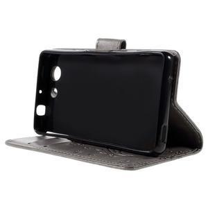 Butterfly PU kožené pouzdro na mobil Sony Xperia Z3 Compact - šedé - 4