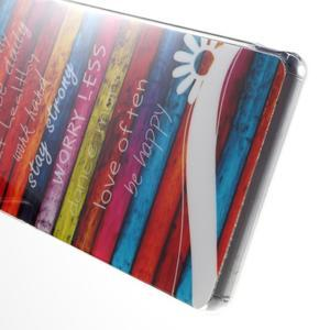 Gelový obal na mobil Sony Xperia Z3 - barvy dřeva - 4