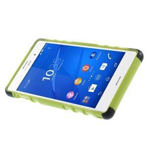 Outdoor ochranný kryt pre mobil Sony Xperia Z3 - zelený - 4