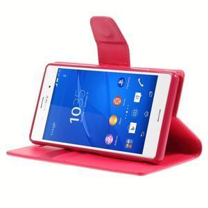 Sonata PU kožené puzdro pre mobil Sony Xperia Z3 - rose - 4