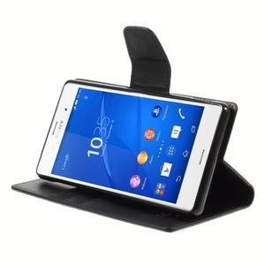 Sonata PU kožené pouzdro na mobil Sony Xperia Z3 - černé - 4