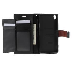 Luxury PU kožené pouzdro na mobil Sony Xperia Z3 - hnědé - 4