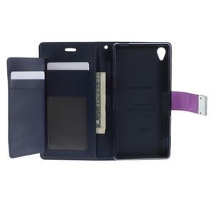 Luxury PU kožené pouzdro na mobil Sony Xperia Z3 - fialové - 4
