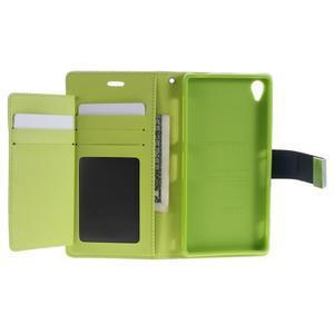 Luxury PU kožené puzdro pre mobil Sony Xperia Z3 - tmavomodré - 4