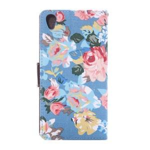 kvetinové puzdro pre mobil Sony Xperia Z3 - modré - 4
