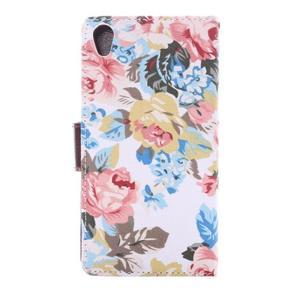 kvetinové puzdro pre mobil Sony Xperia Z3 - biele - 4