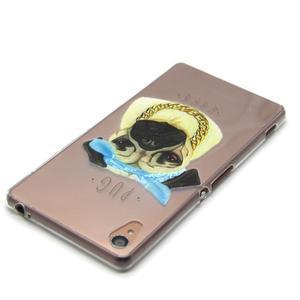 Gélový obal pre mobil Sony Xperia Z3 - mops - 4