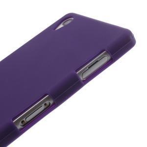 Silikónový obal pre mobil Sony Xperia Z3 - fialový - 4