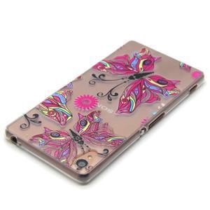 Gelový obal na mobil Sony Xperia Z3 - barevný motýlci - 4