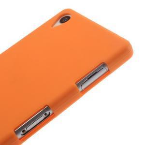Silikónový obal pre mobil Sony Xperia Z3 - oranžový - 4
