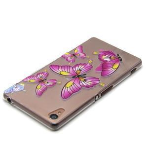 Gelový obal na mobil Sony Xperia Z3 - motýlkové - 4