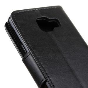 Hoor PU kožené puzdro pre mobil Samsung Galaxy A3 (2016) - čierne - 4