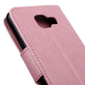 Hoor PU kožené puzdro pre mobil Samsung Galaxy A3 (2016) - ružové - 4