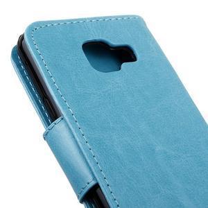Hoor PU kožené puzdro pre mobil Samsung Galaxy A3 (2016) - modré - 4