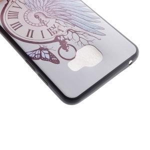 Terry gelový obal na Samsung Galaxy A3 (2016) - antické hodiny - 4