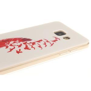 Silk gelový kryt na mobil Samsung Galaxy A3 (2016) - červené peříčko - 4