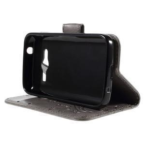 Butterfly puzdro pre mobil Samsung Galaxy Trend 2 Lite - šedé - 4