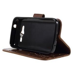 Butterfly puzdro pre mobil Samsung Galaxy Trend 2 Lite - hnedé - 4