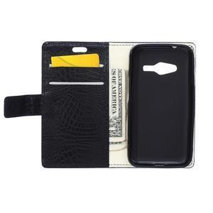 Croco peněženkové pouzdro na Samsung Galaxy Trend 2 Lite - černé - 4