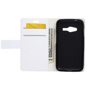 Croco peňaženkové puzdro pre Samsung Galaxy Trend 2 Lite - biele - 4